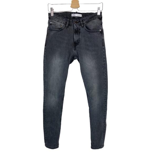 Zara Black Skinny Jeans High Rise Stretch Denim